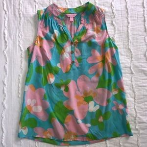 Spring themed Lily Pulitzer top